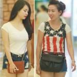 Thời trang - Hà Nội: Ngơ ngẩn ngắm chị em mặc quần ngắn