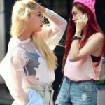 Thời trang - Thiếu nữ Hàn khoe nội y rất bạo