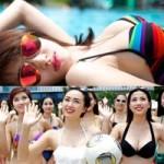 """Bóng đá - Các thiếu nữ """"Nóng cùng World Cup"""" trình diễn ở bể bơi"""