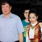 Ngôi sao điện ảnh - Trang Nhung được chồng đưa đi ăn mừng...bị loại