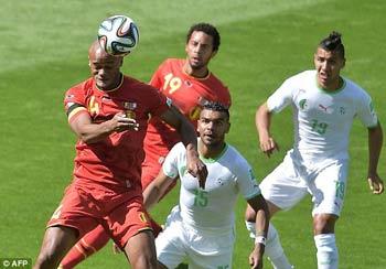 TRỰC TIẾP Bỉ - Algeria: Hết hy vọng (KT) - 5