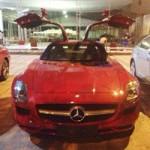 Ô tô - Xe máy - Siêu xe cánh chim Mercedes màu đỏ đến Hà Nội