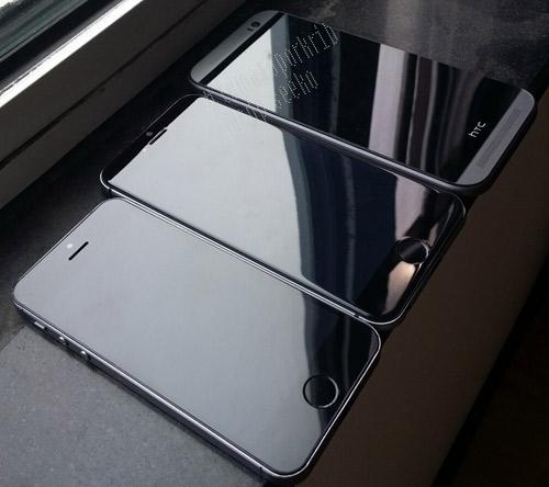 iPhone 6 cực đẹp đọ dáng bên HTC One M8 - 1