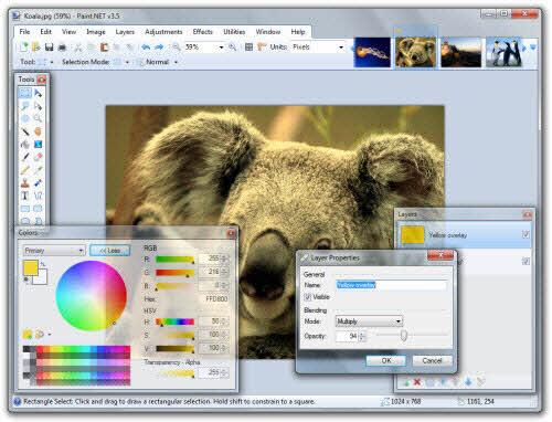 Chỉnh sửa hình ảnh miễn phí với Paint.NET - 3