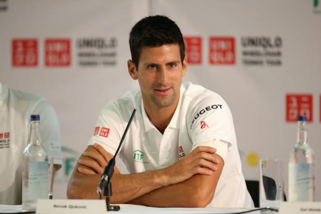 Djokovic trong buổi họp báo trước sự kiện The Boodles Tennis (diễn ra vào hôm nay 20/6, giờ địa phương ở Anh), nhằm làm nóng trước Wimbledon.