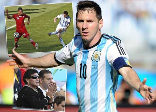 Messi sau 2 trận: Thấp thoáng bóng dáng Maradona - 1
