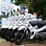 Ô tô - Xe máy - Dàn xe Yamaha Sirius thiết kế riêng cho CSGT Hà Tĩnh
