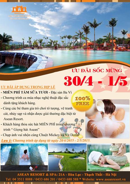 Trải nghiệm trọn vẹn kỳ nghỉ lễ 30/4 – 1/5 tại Asean Resort - 3