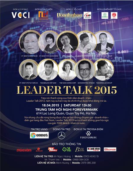 Chủ tịch FPT Trương Gia Bình – Diễn giả đặc biệt trong Leader Talk 2015 - 1
