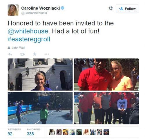 Wozniacki đánh tennis cùng Tổng thống Obama - 6