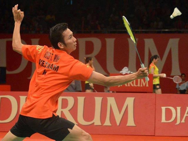Tiến Minh, Vũ Thị Trang dừng bước ngay tại vòng 1 Giải cầu lông Singapore mở rộng 2015