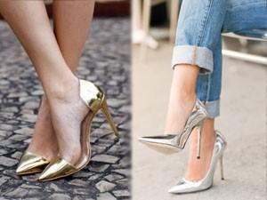 """6 cách phối khiến đôi giày ánh kim trở nên """"đáng giá"""""""