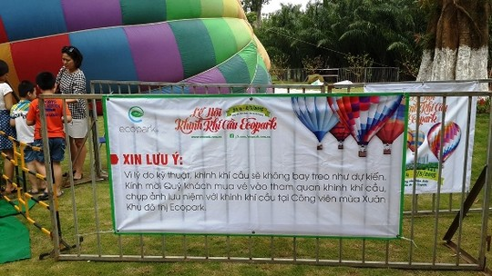 Lễ hội khinh khí cầu: Khinh khí cầu không bay, chỉ đứng - 3