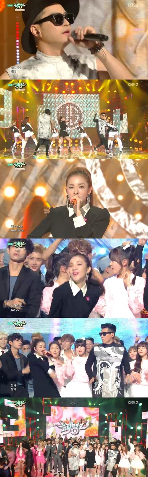 """Dara (2NE1) """"quẩy"""" hết cỡ cùng đàn anh trên sân khấu - 1"""