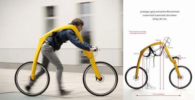 Các nhà thiết kế người Đức từng giới thiệu một chiếc xe đạp với kiểu dáng độc đáo không có pedal để đạp xe, thay vào đó dùng chính đôi chân của người sử dụng để chạy. Chiếc xe đạp được đặt tên là Fliz, phát triển bởi 2 nhà thiết kế người Đức Tom Hambrock và Juri Spetter.