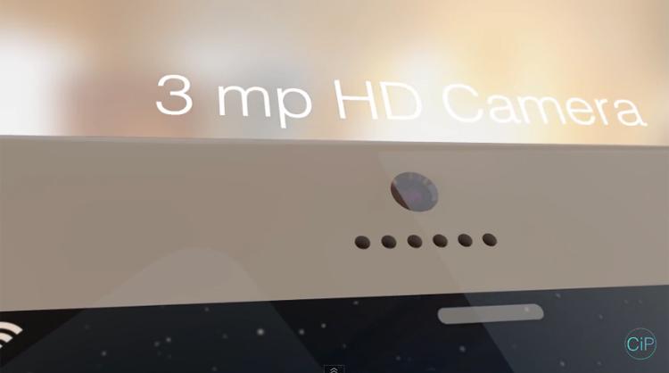 """Một tín đồ của  """" Táo khuyết """"  vừa tạo ra bản dựng 3D của chiếc iPhone 6 Pro với thiết kế vô cùng khác lạ so với những sản phẩm của Apple."""