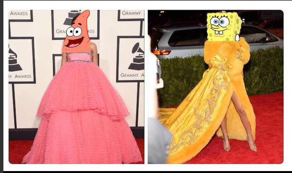 """Mặc """"long bào"""", Rihanna bị chế ảnh và chê bai thậm tệ - 3"""