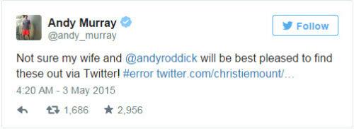 Tin thất thiệt: Murray có con với… vợ Roddick - 2