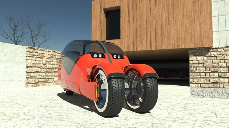 """Độc đáo xe ô tô """"phân thân"""" thành hai chiếc xe máy - 6"""