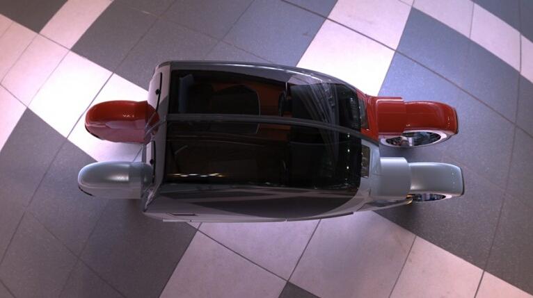 """Độc đáo xe ô tô """"phân thân"""" thành hai chiếc xe máy - 4"""