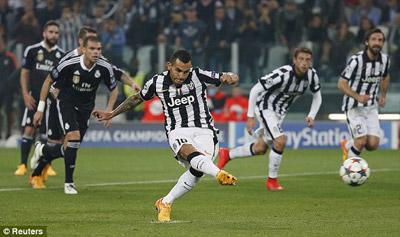 TRỰC TIẾP Juventus - Real: Tevez và Bale rời sân (KT) - 11