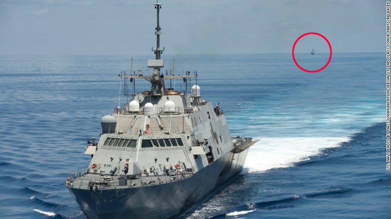 Ngắm tàu chiến Mỹ vừa tuần tra trên Biển Đông - 1