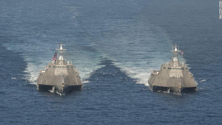 Ngắm tàu chiến Mỹ vừa tuần tra trên Biển Đông - 4