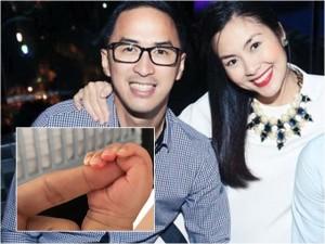 Chồng Hà Tăng khoe ảnh bàn tay con trai đáng yêu
