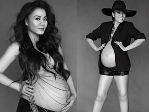 Thu Minh khoe ảnh bán nude trước ngày sinh con