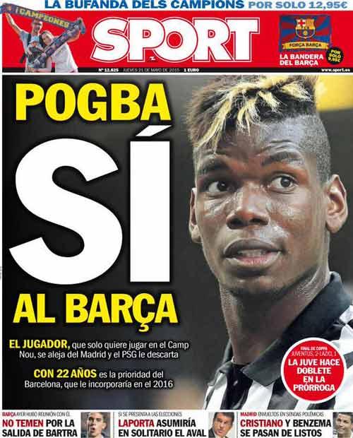 """Pogba khước từ mọi """"đại gia"""", ngoại trừ Barca - 1"""