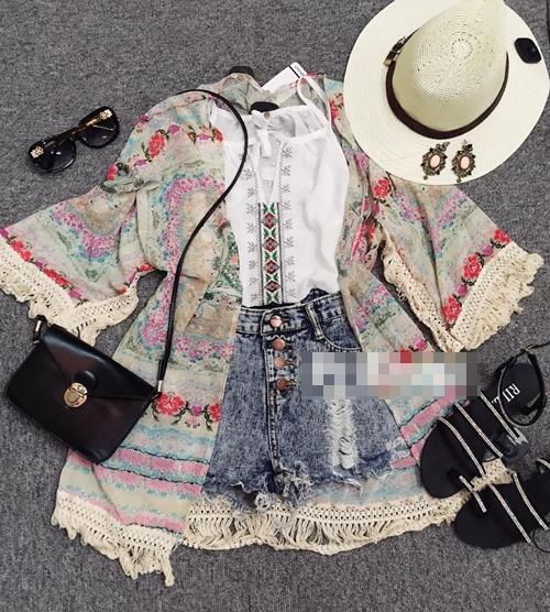 Mách bạn gái chọn mua áo khoác kimono đẹp và rẻ - 5