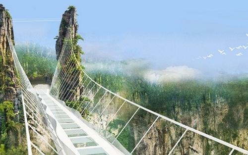 Cầu bằng kính dài và cao nhất thế giới ở Trung Quốc - 4