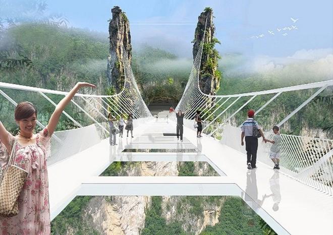Cầu bằng kính dài và cao nhất thế giới ở Trung Quốc - 3