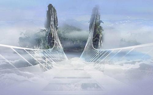 Cầu bằng kính dài và cao nhất thế giới ở Trung Quốc - 1