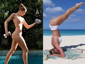 Thiên thần nội y cực sexy khi tập luyện