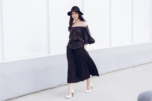 Á hậu Diễm Trang bất ngờ sexy với váy 2 dây - 6