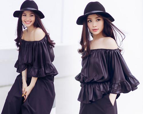 Á hậu Diễm Trang bất ngờ sexy với váy 2 dây - 5