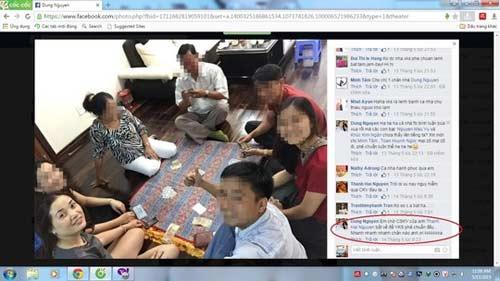 Kiểm sát viên đăng ảnh đánh bài ăn tiền lên Facebook - 1