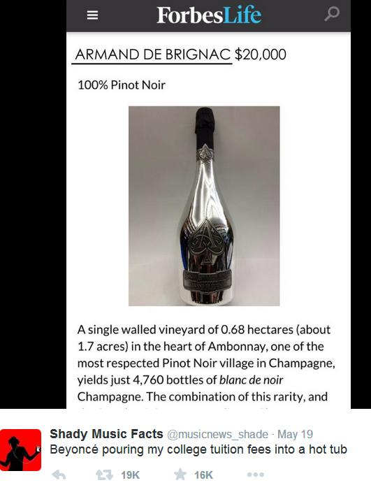 Beyonce đổ cả chai rượu hơn 400 triệu vào bồn tắm - 2