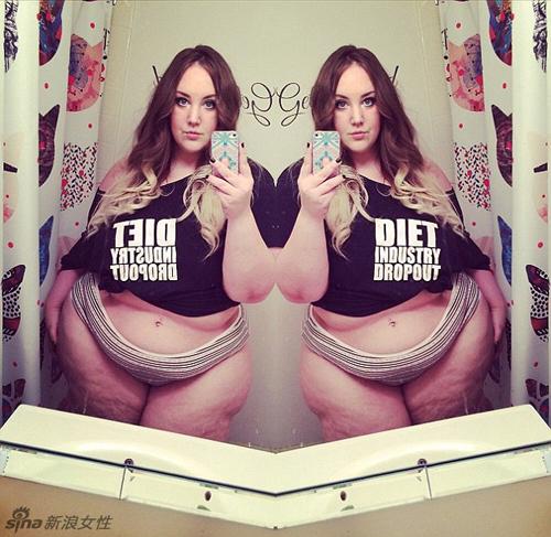 Nàng béo gây chú ý khi mặc nội y khoe body núng nính mỡ - 6