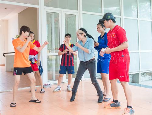 Phương Thanh chơi thể thao như vận động viên - 7