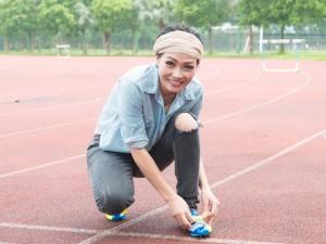Phương Thanh chơi thể thao như vận động viên