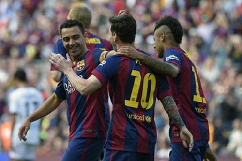 """Barca """"mở hội"""" nhận cúp, tri ân Xavi - 5"""