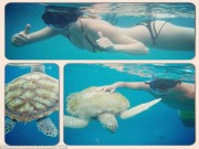 Sao 360 độ: Bồ SAO MU khoe thân nóng bỏng cùng rùa biển