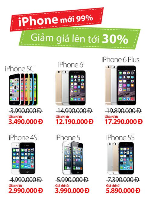 """""""Cơn lốc"""" giảm giá iPhone Like new tới 3 triệu đồng - 2"""