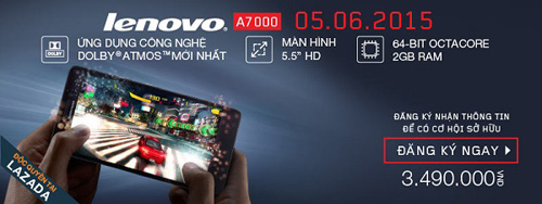 Cơ hội cuối để sở hữu Lenovo A7000 với giá hấp dẫn lúc 11h trưa nay - 1