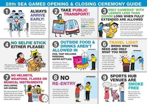 Những điểm cần lưu ý khi tham dự lễ khai mạc và bế mạc SEA Games - 1