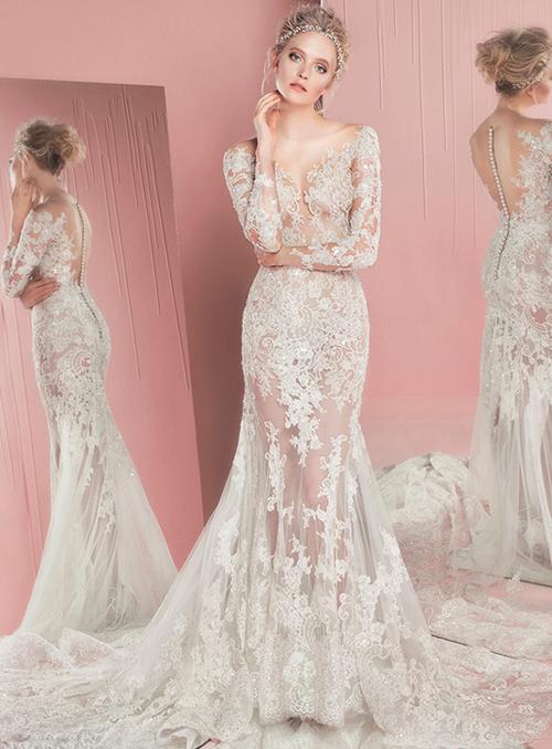 Nín thở trước vẻ đẹp của 17 chiếc váy cưới trong mơ - 17
