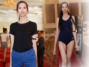 VNTM: Thiếu nữ cao 1m90 bị chuột rút vì guốc cao gót