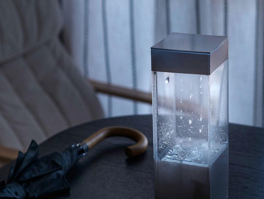 Kỳ thú: Hộp báo mưa để bàn có sấm sét như thật - 1